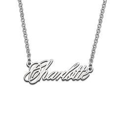 Zierliche extra starke Namenskette aus Silber Produktfoto