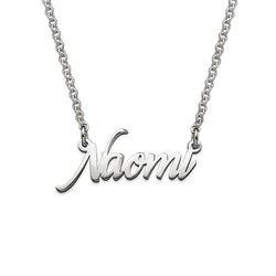 Zierliche Namenskette aus extra starken Sterling Silber product photo
