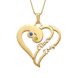 585er Gold (14k) - Doppelherz-Halskette Produktfoto