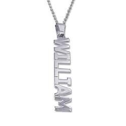 925er Silberkette mit senkrechtem Namensanhänger product photo