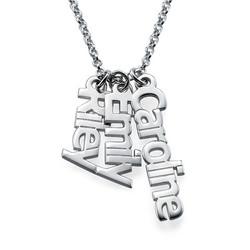 925er Silberkette mit senkrechten Namensanhängern product photo
