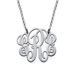 Schicke Monogramm Halskette Produktfoto
