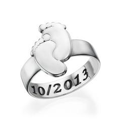 Gravierbarer Babyfüße-Ring product photo