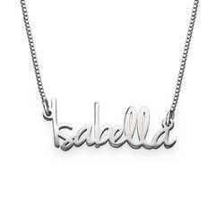 Zierliche Namenskette für Damen aus extra starken Silber Produktfoto