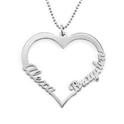 Individualisierbare Herzkette aus 417er-Weißgold product photo