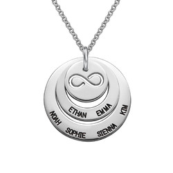 Personalisierbare Familien Halskette mit Infinty Symbol product photo