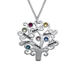 Familienstammbaum Halskette mit Geburtssteinen product photo