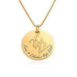 Schulabschluß Halskette aus 750er vergoldetes 925er Silber Produktfoto