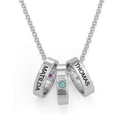 Ringkette für Mütter mit Gravur product photo