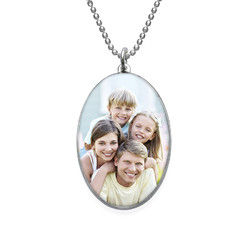 Ovale Foto-Halskette Produktfoto