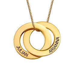 Russische Ring Halskette mit zwei Ringen - vergoldet product photo