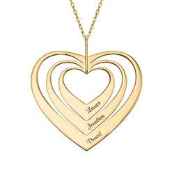 Familienkette mit Herz aus 417er-Gold product photo