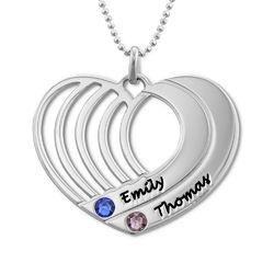 Silberne Herzkette mit Gravur product photo