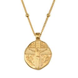 Vergoldete Jesus-Christus-Münzkette Produktfoto