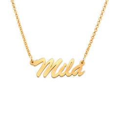 Namenskette mit Gold-Beschichtung Produktfoto