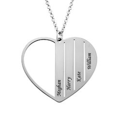 Mama-Kette mit Herz aus Sterlingsilber product photo