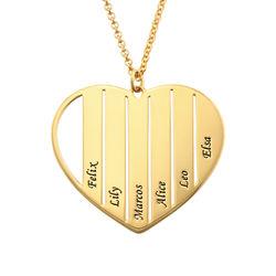 Mama-Kette mit Herz und Gold-Beschichtung product photo