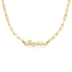 Namenskette aus Gold-Vermeil - Say My Name Produktfoto