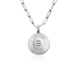 Odeion Initial-Halskette aus Sterlingsilber product photo