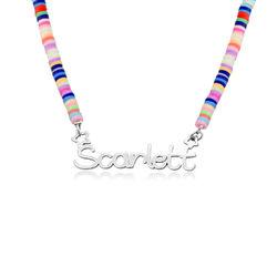 Regenbogenkette aus Sterling Silber für Mädchen product photo