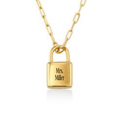 Allie Vorhängeschloss mit Gliederkette aus 750er Gold-Vermeil Produktfoto