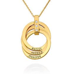 Halskette mit gravierten russischen Ringen aus Gold - Vermeil mit Produktfoto