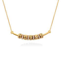 Smile-Barrenkette mit personalisierten Perlen aus Vergoldetes 925er Produktfoto