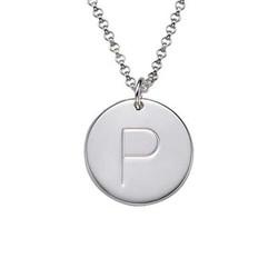 Initialanhängerkette aus Silber Produktfoto