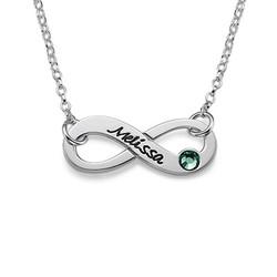 Infinity - Unendlich Kette mit Swarovski Kristall product photo