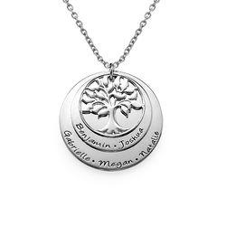 925er Sterling Silber gestufte Stammbaum-Kette für Mutter Produktfoto