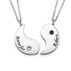 Gravierte Yin Yang Halskette für Pärchen product photo