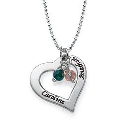 Gravierbare Herzkette aus Silber product photo