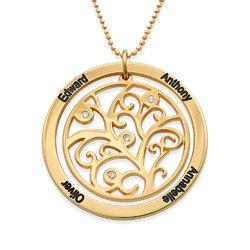 Vergoldete Stammbaumkette mit Diamanten Produktfoto
