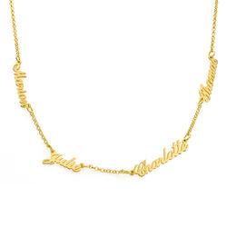Namenskette mit bis zu 5 Namen mit Gold-Vermeil product photo