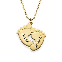 Vergoldete Babyfüße Halskette product photo