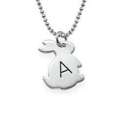 Häschenkette mit Initiale aus Silber product photo