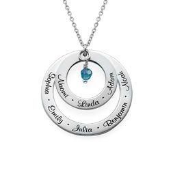 Geburtsstein Halskette für Großmütter product photo