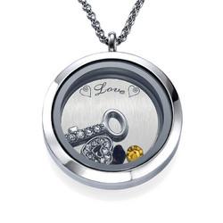 Du bist der Schlüssel zu meinem Herzen Charm-Medaillon product photo