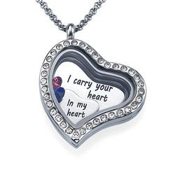 Ich trage dein Herz bei mir Charm-Medaillon product photo