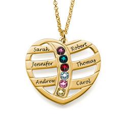 Geschenke für Mütter - gravierbare vergoldete Herzkette mit Produktfoto