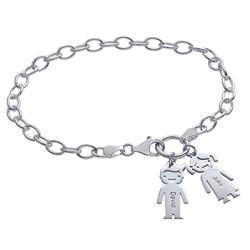 Armband mit Gravur und Kinderanhänger Produktfoto