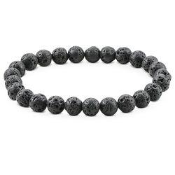 Armband für Herren mit Lavasteinperlen product photo