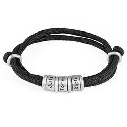 Herren-Armband mit Kordel und personalisierten Charms product photo
