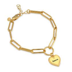 Herz Gliederarmband aus Gold Vermeil Produktfoto
