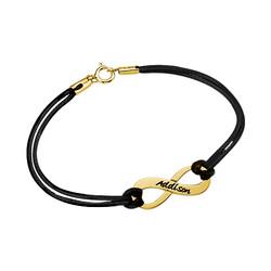 Personalisiertes Infinity Armband mit Gravur vergoldet product photo