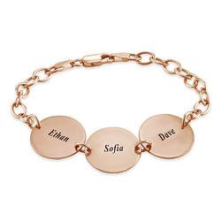 Spezielles Geschenk für Mama - Namensarmband mit Scheiben und Produktfoto