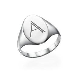 Initialensiegelring aus Sterling Silber Produktfoto