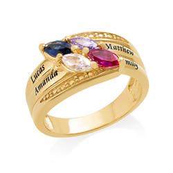 Vergoldeter Geburtsstein-Ring für Mütter product photo