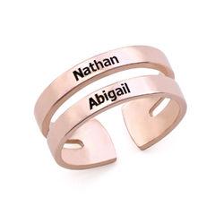 Ring mit Namen - mit 750er Rosévergoldung product photo