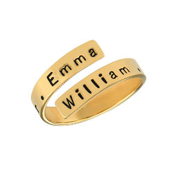Vergoldeter Ring mit Gravur Produktfoto